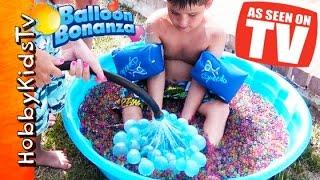 getlinkyoutube.com-Balloon Bonanza WATER FIGHT! As Seen on TV Freaky Fast + Orbeez HobbyKidsTV