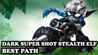 getlinkyoutube.com-Skylanders Superchargers - Dark Super Shot Stealth Elf - Stealth Saboteur Path- BEST PATH - GAMEPLAY