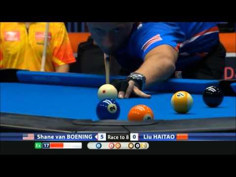 Greatest Pool Plays - Shane Van Boening 7 rack run - 9-ball