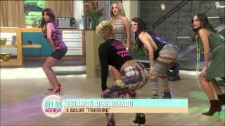 getlinkyoutube.com-Las conductoras de Ellas Arriba bailan twerking