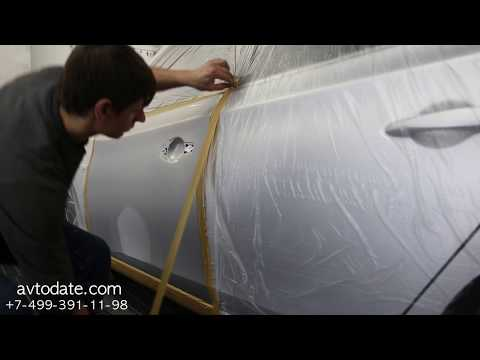 Ремонт и покраска двери на Nissan Sentra