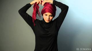 getlinkyoutube.com-Shawl tutorial : Criss cross turban