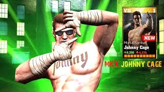 getlinkyoutube.com-Update 1.7 Johnny Cage Review All special Attacks:WWE Immortals Ios/Android