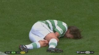 getlinkyoutube.com-Ouch! One Direction's Louis Tomlinson tackle by Gabriel Agbonlahor