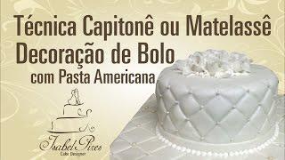 getlinkyoutube.com-Técnica Capitonê ou Matelassê na Decoração de Bolo de Pasta Americana!