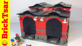 getlinkyoutube.com-LEGO World City 10027 Train Engine Shed from 2003