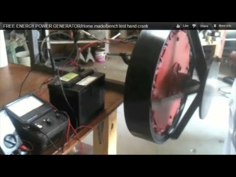 Permanent magnet GENERATOR/Home made/bench test hand crank