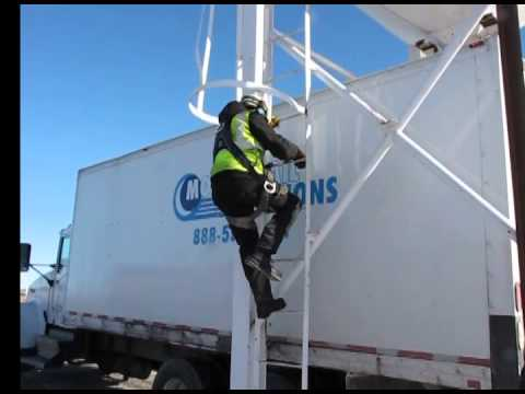 Mobile Rail's Dangerous Sand Silo Climbing Procedure. OSHA violation