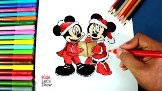 getlinkyoutube.com-Cómo dibujar a Mickey y Minnie Mouse en Navidad | How to draw Mickey and Minnie Mouse at Christmas