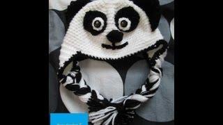 getlinkyoutube.com-How to Crochet an Adult Panda Hat Part 1