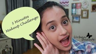 getlinkyoutube.com-3 Minutes Makeup Challenge!