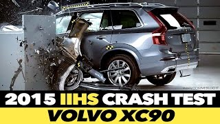 getlinkyoutube.com-2016 Volvo XC90 CRASH TEST IIHS Small Overlap [GOOD]