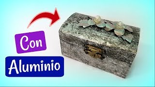 Decoración de objetos con aluminio.