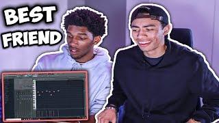 My BEST FRIEND Tries Making A Beat From Scratch!!   Fl Studio 12 Beat Making width=