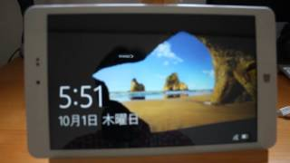 getlinkyoutube.com-Chuwi Hi8 Android4 to Windows10【中華パッド Chuwi Hi8 】