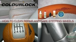 How to clean repair and care car leather - www.colourlock.com