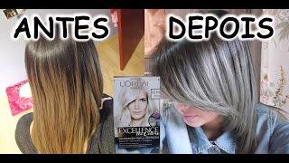 getlinkyoutube.com-CABELO CINZA COM TINTA 12.111 LOREAL (Granny hair)