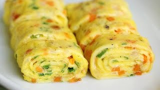 getlinkyoutube.com-Perfect Egg Rolls Recipe Tamagoyaki - Eugenie Kitchen