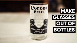 getlinkyoutube.com-How to make Corona beer bottles into glasses every time! NO FIRE