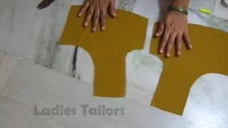 getlinkyoutube.com-How to Simple Design Cross Cutting Blouse Full Video in Telugu