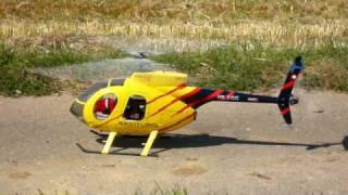 getlinkyoutube.com-Align T-Rex 600 ESP Hughes 500E (Funkey Fuselage) - 2nd test flight