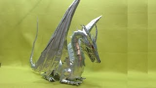 getlinkyoutube.com-Dragón Hecho con latas de aluminio Tutorial