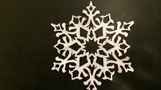 雪の結晶 ②   Snowflake おりがみ 切り絵 作り方   Paper cutout