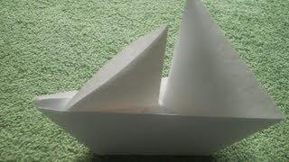 getlinkyoutube.com-Origami Tutorial: Origami Sailboat