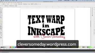 getlinkyoutube.com-Text Warp in Inkscape