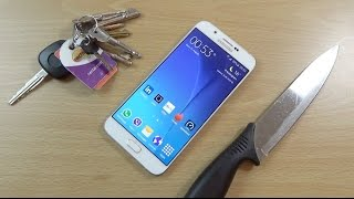 Samsung Galaxy A8  - Knife Scratch Test!