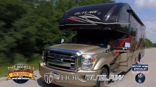 getlinkyoutube.com-Outlaw Super C Toy Hauler RV Review at Motor Home Specialist 2014 2015