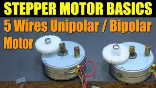 getlinkyoutube.com-Stepper Motor Basics - 5 Wires Unipolar / Bipolar Motor