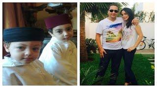 getlinkyoutube.com-بالصور : مقدمة صباحيات 2M ليلى الشواي رفقة زوجها رشيد حمان و ابنيهما صور جميلة جدآآ !!!