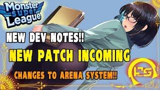getlinkyoutube.com-Monster Super League: NEW DEV NOTES FOR NEXT PATCH!! BIG CHANGES TO ATK/DEF & ARENA SYSTEM!! ♕