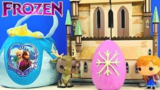getlinkyoutube.com-FROZEN SURPRISE BASKET - Shopkins Play Doh Kinder Eggs Disney Princess Barbie Peppa Pig MLP