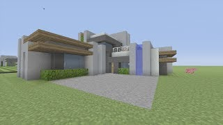 getlinkyoutube.com-How to Build a Modern Mansion in Minecraft