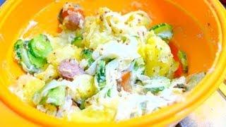 getlinkyoutube.com-シリコンスチーマを使ったポテトサラダの賢い作り方  How to make potato salad using silicon steamer