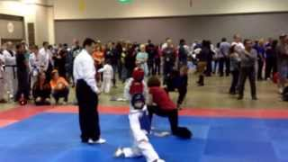 getlinkyoutube.com-Anthony C Carmelo Taekwondo: State Competition 2013 Orange Belt Gold Medal