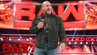 Goldberg confirms he will compete in the 2017 Royal Rumble Match: Raw, Nov. 21, 2016