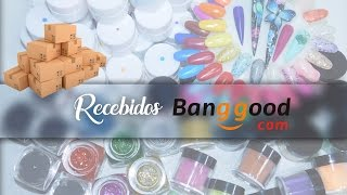 getlinkyoutube.com-Recebidos Loja Banggood - Review - Pó acrilico,Gel UV,Tips | Aline Makelyne