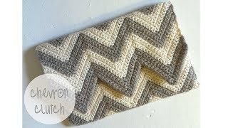 getlinkyoutube.com-CROCHET TUTORIAL - CHEVRON CLUTCH