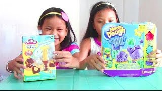 getlinkyoutube.com-Play Doh Chocolate Popper and Moon Dough Ocean Pals - 2 Play Dough Sets