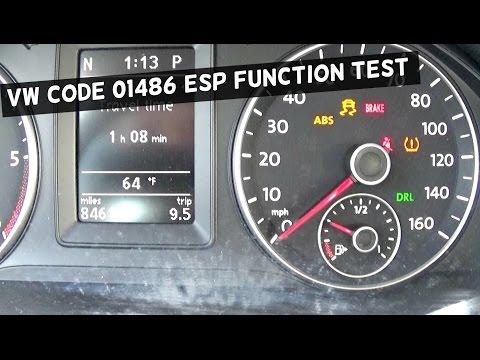 01486 Code VW ESP SYSTEM FUNCTION TEST