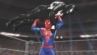 getlinkyoutube.com-WWE 2K15 - SPIDERMAN VS VENOM - Amazing Spider-Man