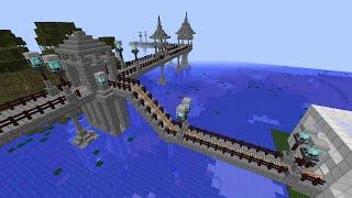 Minecraft トロッコ走行中行き先変更システム