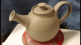 getlinkyoutube.com-Throwing / making a clay pottery tea pot on the wheel how to make demo