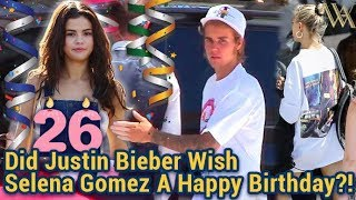 EXCLUSIVE - We Asked Newly Engaged Justin Bieber If He Wished Ex Selena Gomez A Happy Birthday width=