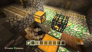 Minecraft Ps4 & Xbox One - Best Seed - 3 Mob Spawners At MIneshaft At Spawn!+ 2 villages!