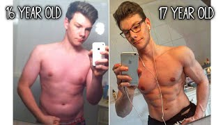 16 Year Old | 1 Year Incredible Body Transformation at Home!