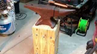 getlinkyoutube.com-ANVIL STAND Super strong, organic, and no welding!